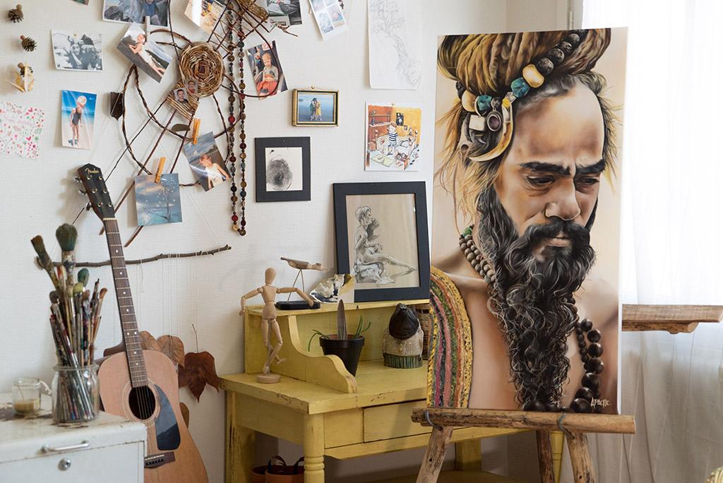 Apache Galerie Tableau Sadhu