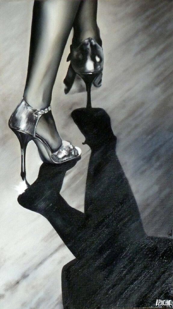 Apache Galerie Toile danse noir et blanc